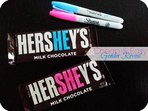 Hersheys Is Thinking Pink by Cheap And Easy Baby Gender Reveal The Denver