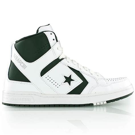 Converse Weapon S Mid converse weapon mid white green bei kickz