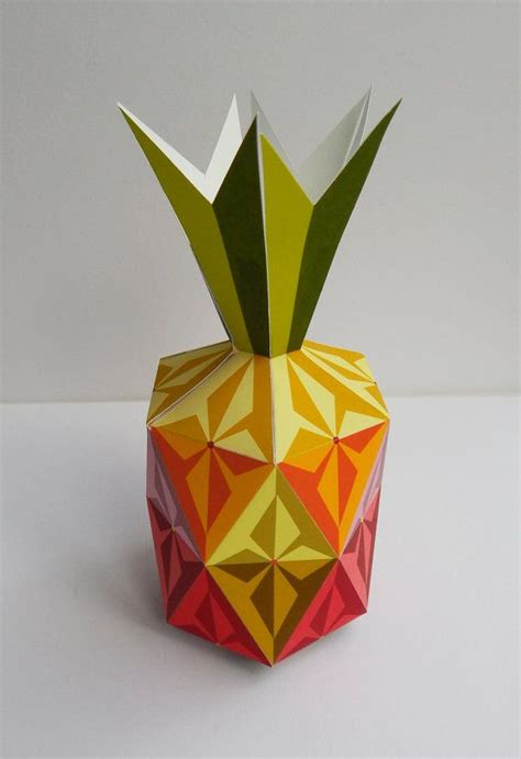 Pineapple Paper Craft - this pineapple how colorful printable paper