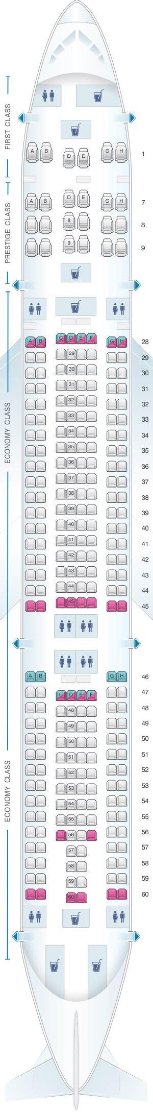korean air seat seat map korean air airbus a330 300 276pax seatmaestro