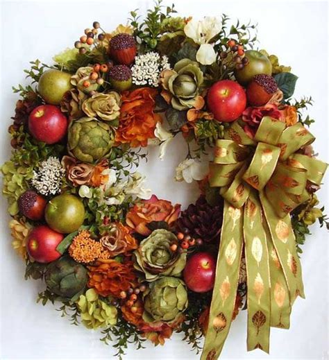 ideas for creating a beautiful fall wreath on the door ideas for interior