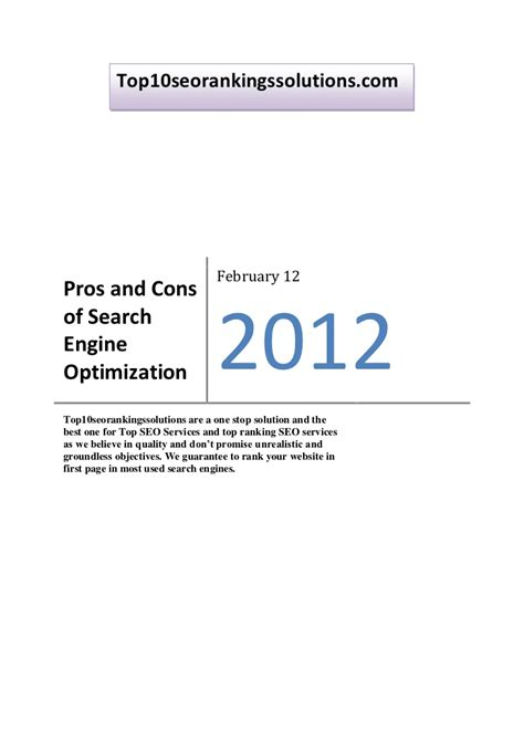 Search Engine Optimization Articles 1 by Pros And Cons Of Search Engine Optimization