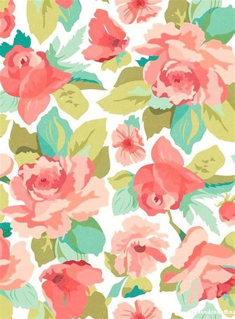 pastel flower pattern wallpaper background colors cute drawing floral flowers girly