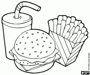 fast food coloring pages printable games