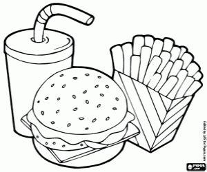 Fast Food Coloring Pages fast food coloring pages printable