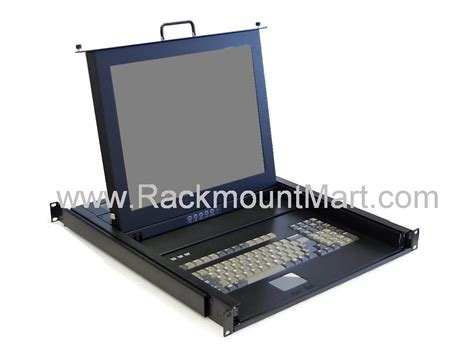 Rackmount Monitor Drawer by Lcd1u17 03 Kvm Console Drawer Rack Mount Monitor Keyboard