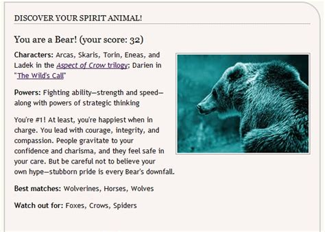 printable spirit animal quiz find out what your spirit animal is srs bodybuilding