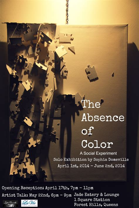 the absence of color new exhibition