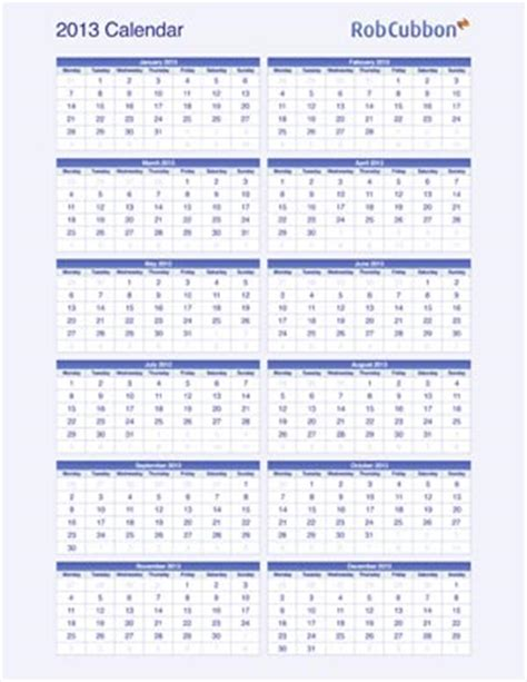 Was Calendar Right For You Free 2013 Calendars As Pdf Illustrator Indesign And