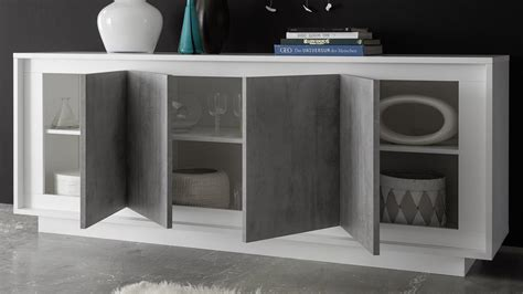 sideboard beton sideboard sky kommode in wei 223 matt und beton mit softclose