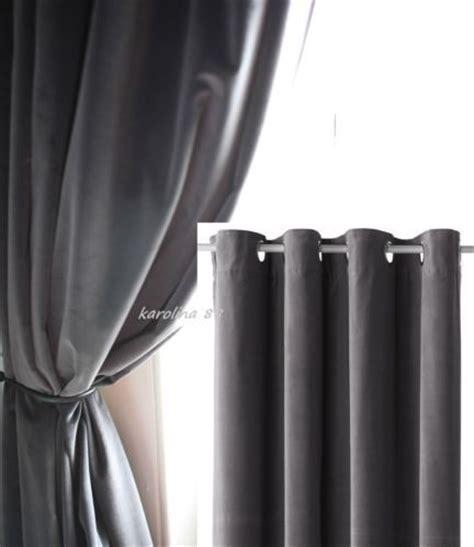 blue velvet curtains ikea charcoal gray cotton velvet curtains blackout sanela ikea