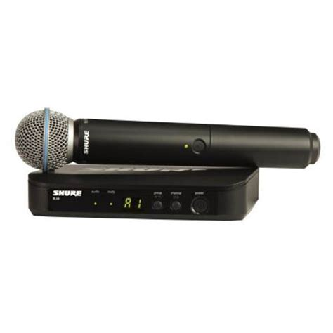 Mic Wireless Shure Blx 7c Multi Channel Handheld shure blx24 b58 beta handheld wireless system stage sound