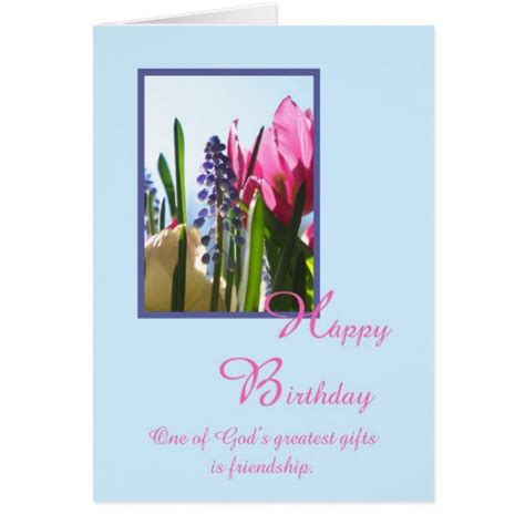 Christian Birthday Card Christian Religious Birthday Card Spring Flower Zazzle