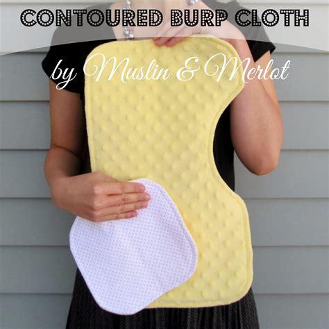 Door Muffler For Baby S Room Muslin And Merlot Contoured Burp Cloth Template