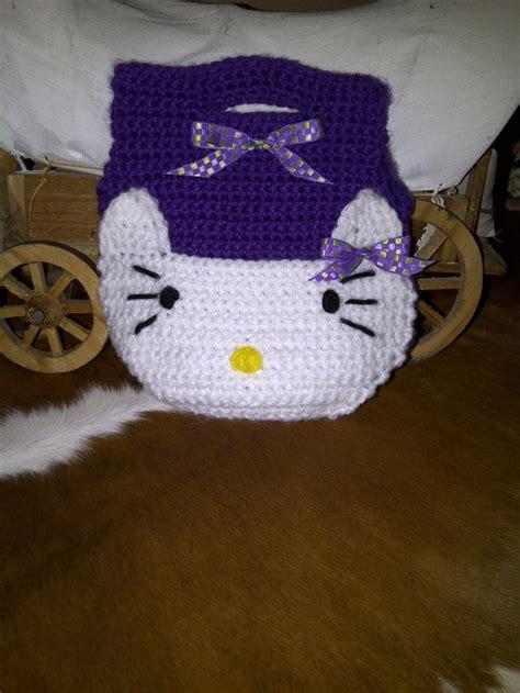 crochet pattern hello kitty bag crochet hello kitty inspired purse my crochet items