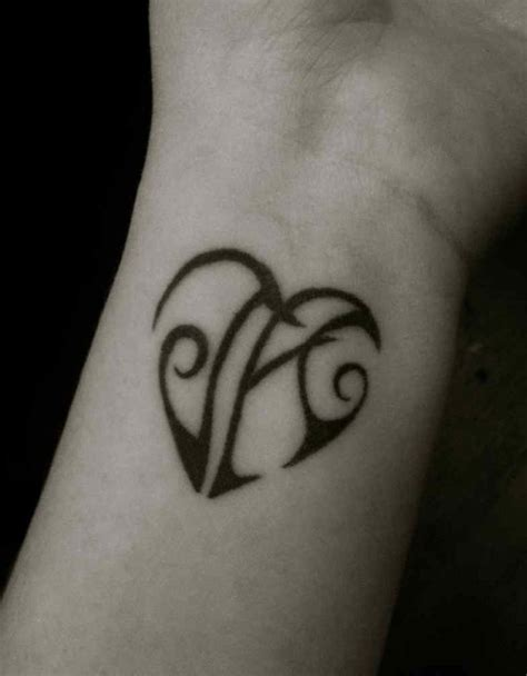 tattoo designs with hidden letters initial for initial