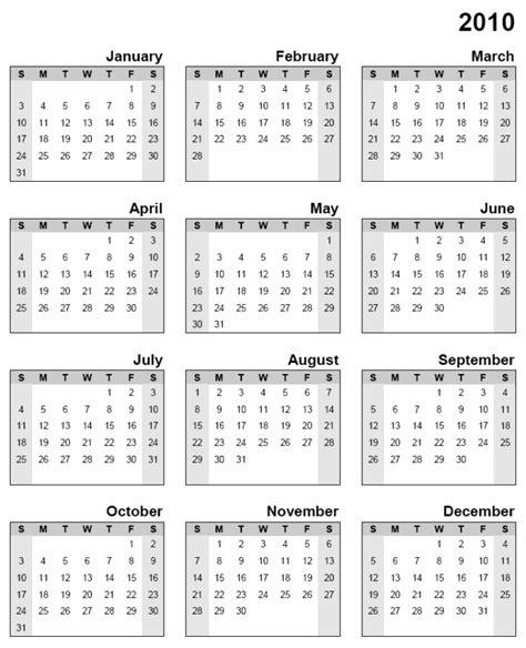 2010 calendar template printable calendar 2010 printable calendar 2017