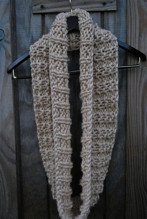 knitting pattern scarf size 8 needles the mid december easy knit infinity scarfmaterials size us