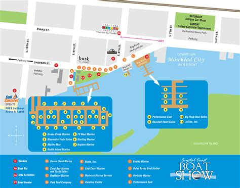 boat show 2017 map crystal coast boat show 2017 parking map crystal coast