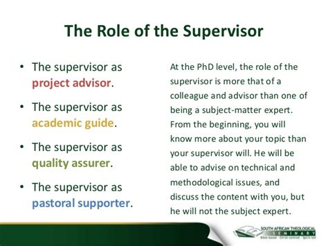phd advisor responsibilities image gallery supervisors role