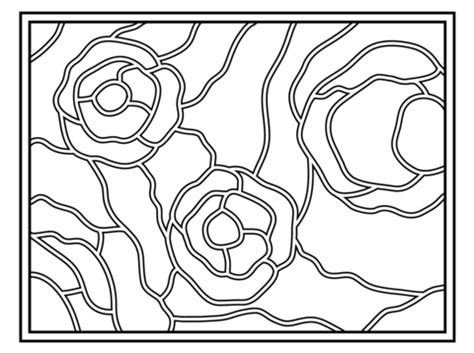 Stained Glass Coloring Pages Bestofcoloring Com Starry Coloring Page