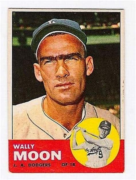 Baseball Gift Card - 1963 topps wally moon baseball card cool baseball cards pinterest