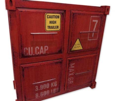 container schrank metall schrank container rot 4 schubladen 61x27x63cm mdf e n