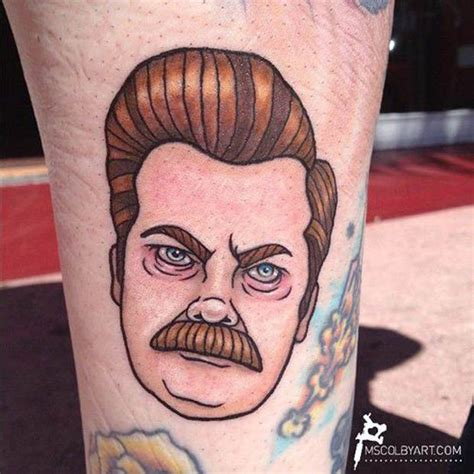 ron swanson tattoo 1000 images about tattoos on lettering