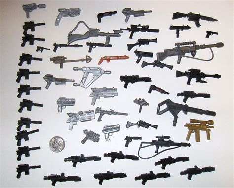 figure guns many small weapons and guns wars trek and