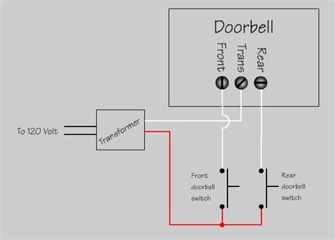 doorbell wiring diagram how to wire up doorbell chime doityourself community forums