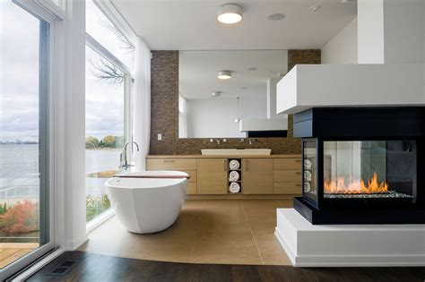 Bathroom Fireplace bathroom fireplace riverside home in ottawa canada