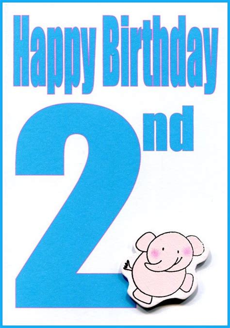 Happy 2nd Birthday Card Wholesale Happy 2nd Birthday Greeting Card Lhb 082a Lil