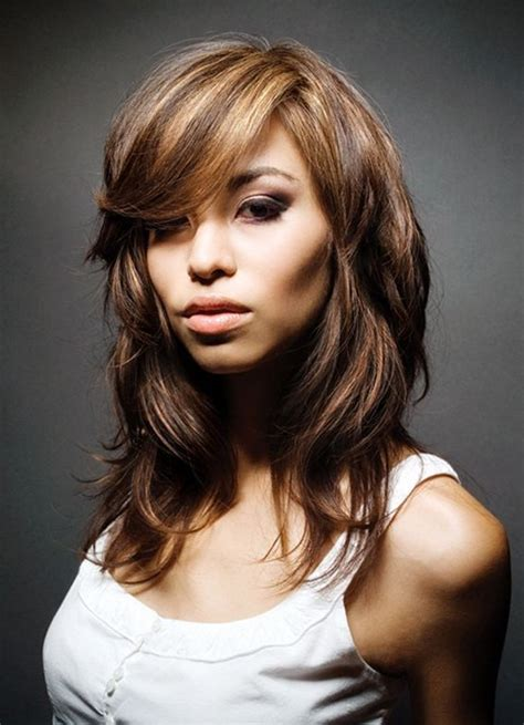 layered hair for more volume on crown medium hairstyles with bangs and layers 2013 popular