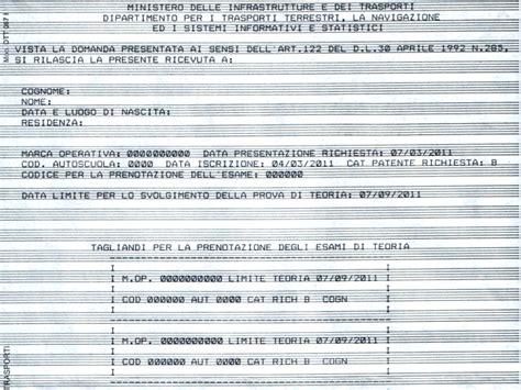 ufficio provinciale della motorizzazione civile quiz patente la patente da privatista patenti a e b