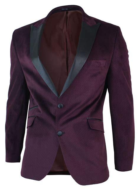 Jaket Blazer Maroon mens slim fit 1 button velvet blazer tuxedo dinner jacket maroon burgundy black ebay