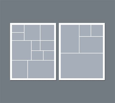 8x10 photo collage template instant digital photo collage template 8 x 10