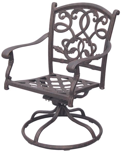 Patio Furniture Rocker Swivel Cast Aluminum Chair (Set/2