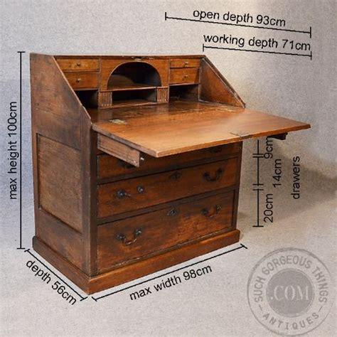 chest of drawers with writing desk antique oak bureau large 17th century english writing desk