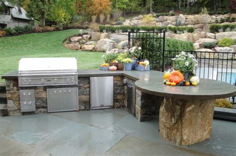 Concrete Countertops For Outdoor Kitchen by 21 Kitchen Countertop Designs Ideas Design Trends