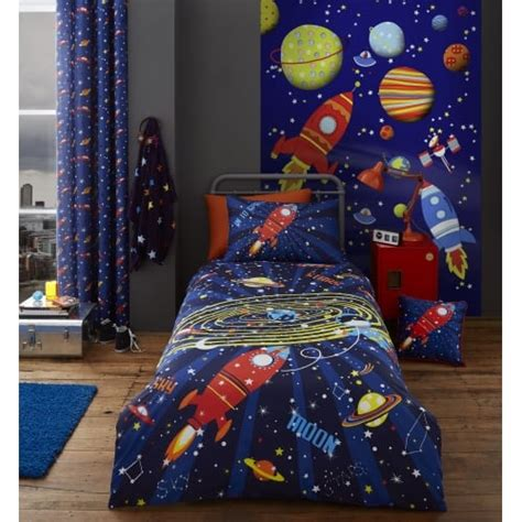 outer space curtains kids catherine lansfield outer space eyelet curtains