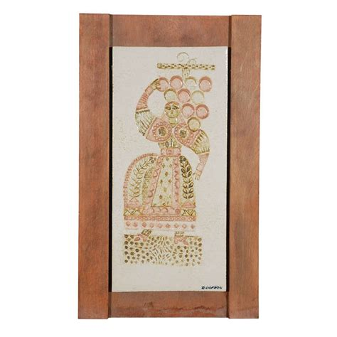 decorative ceramic wall plaques ceramic wall plaque by roger capron for sale at 1stdibs