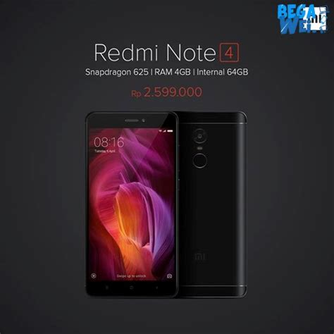 Resmi Hp Xiaomi Redmi 3 Di Indonesia resmi dijual di indonesia ini harga xiaomi redmi note 4 begawei