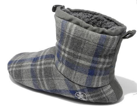 mens bootie style slippers mens bedroom athletics brushed cotton soft fleece fur boot