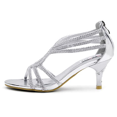A Silver Dress Shoes by Shesole Womens Sandals Heels Shoes Silver Wedding Dresses Size 6 11 Ebay