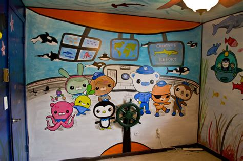 octonauts kid s room mural eclectic other by