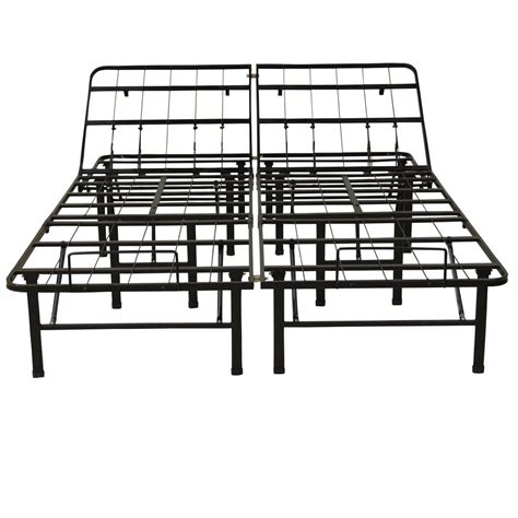 Heavy Duty Bed Frames King Hercules King Size 14 In H Adjustable Heavy Duty Metal Platform Bed Frame 127001 5060 The