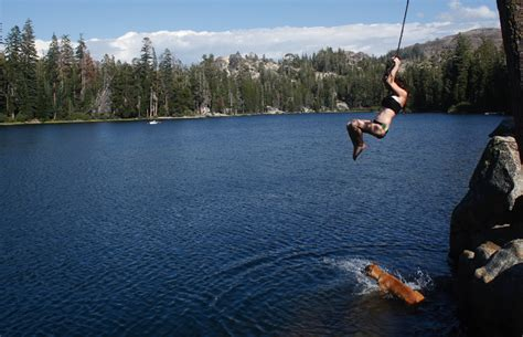 tahoe rope swing climbing the walls at the lakes on highway 88 powdork