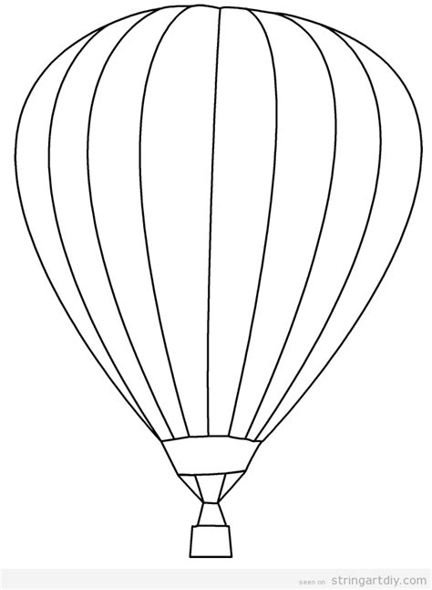 hot air balloon free and pritnable template inspira 231 245 es