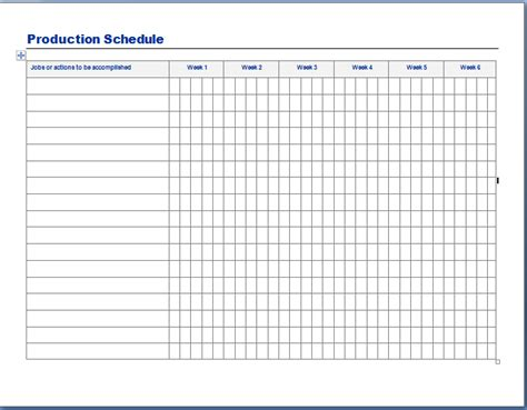 production schedule template e commercewordpress