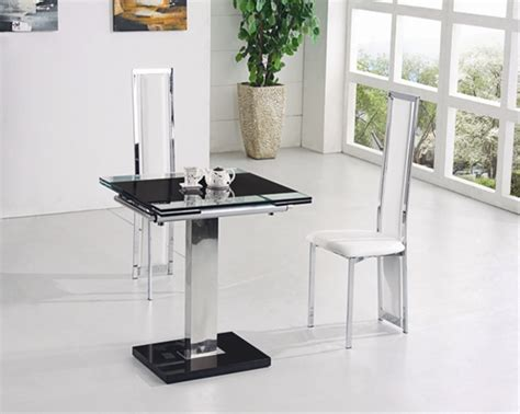 Glass Extending Dining Table Sets Gami Extending Glass Dining Table Dining Table And Chairs Dining Tables